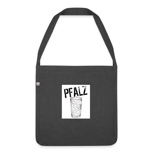 Pfalzshirt mit Dubbeglas, weiß - Schultertasche aus Recycling-Material