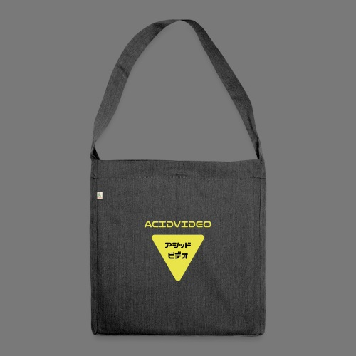 Acidvideo logo - Shoulder Bag made from recycled material