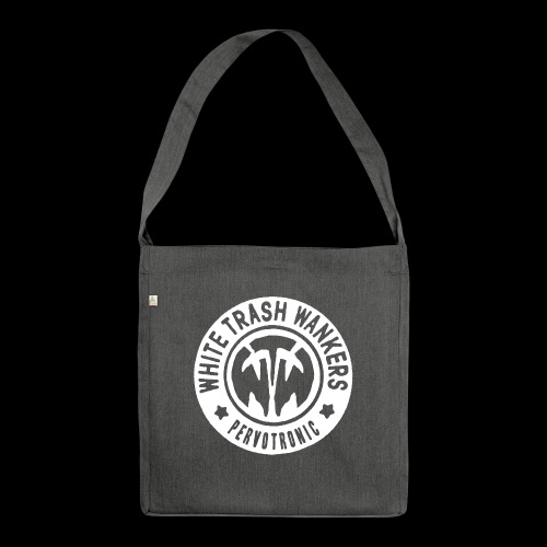 White Trash Wankers Pervotronic-Logo - Schultertasche aus Recycling-Material