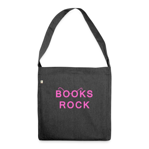 Books Rock Pink - Shoulder Bag made from recycled material