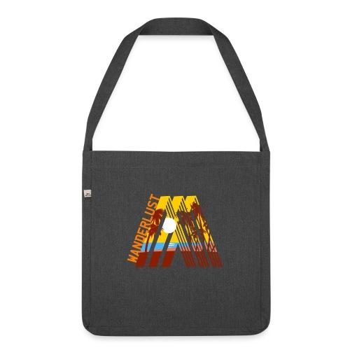 Reisen Weltreise Travelshirt Strand Sonne Palmen - Schultertasche aus Recycling-Material