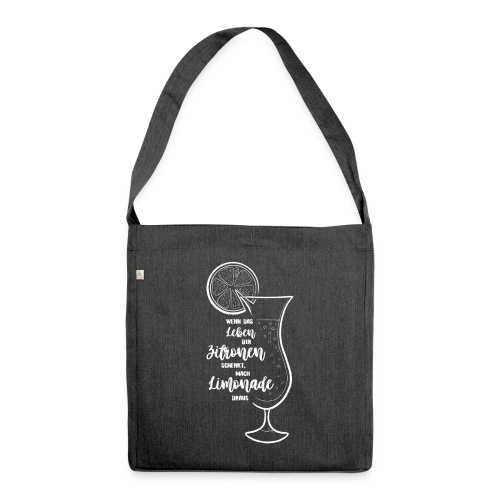 Wenn das Leben dir Zitronen schenkt - Illustration - Schultertasche aus Recycling-Material