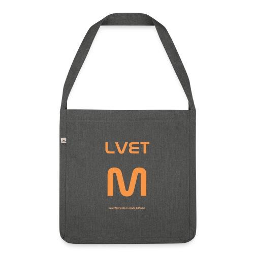 LVET M orange - Sac bandoulière 100 % recyclé
