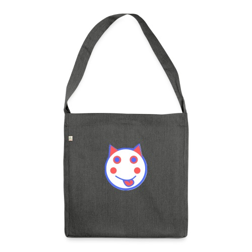 Red White And Blue - Alf Da Cat - Shoulder Bag made from recycled material