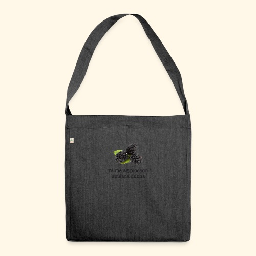 Picking blackberries - Shoulder Bag made from recycled material