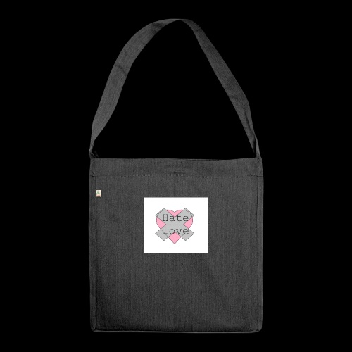 Hate love - Bandolera de material reciclado