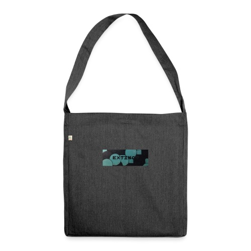 Extinct box logo - Shoulder Bag made from recycled material