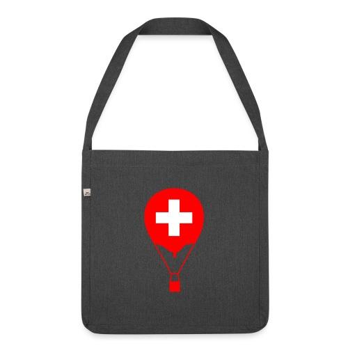 Gasballon im schweizer Design - Schultertasche aus Recycling-Material