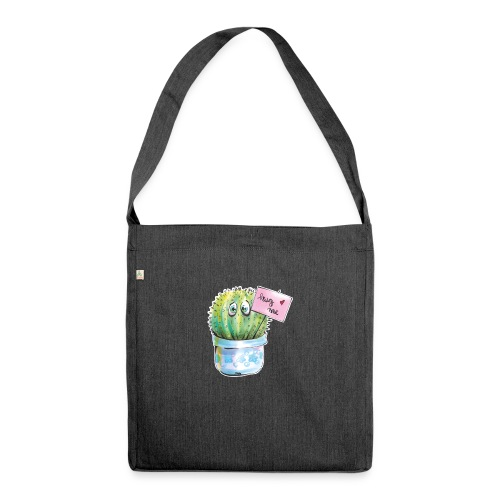 hug me - Schultertasche aus Recycling-Material
