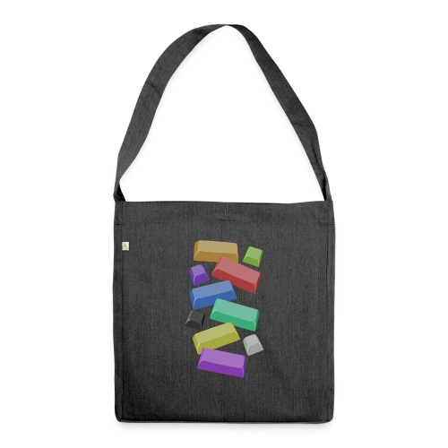 SA Mechanical Keyboard Keycaps Motif - Shoulder Bag made from recycled material