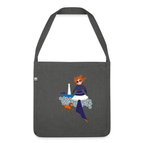 Izel Dousig mariniere bleu marine - Sac bandoulière 100 % recyclé