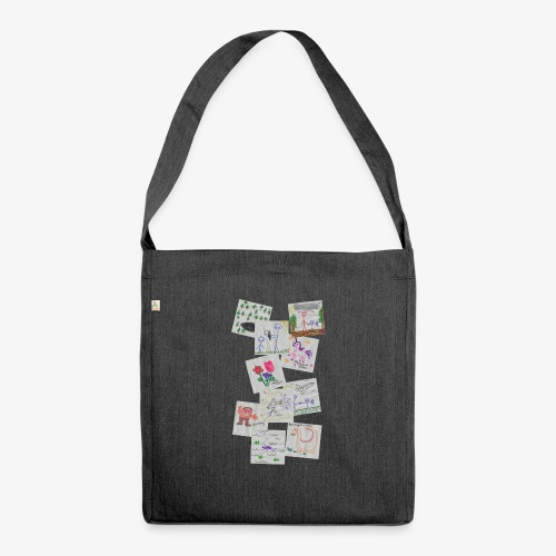 Drawings - Shoulder Bag made from recycled material