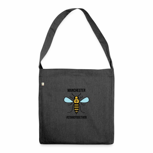 Manchester Bee - Shoulder Bag made from recycled material
