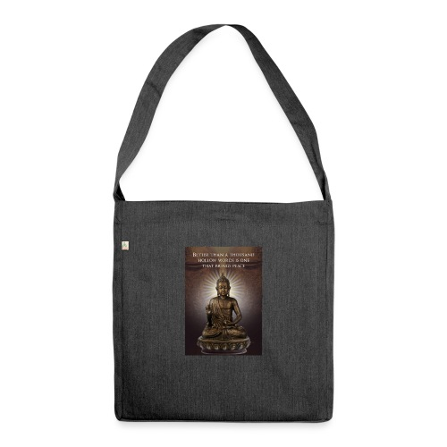 Buddha Wisdom - Shoulder Bag made from recycled material