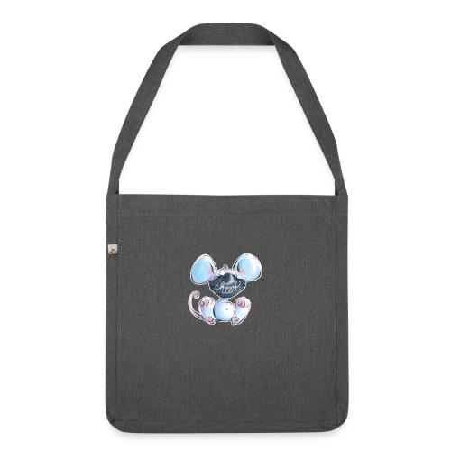 Maskenmaus - Schultertasche aus Recycling-Material
