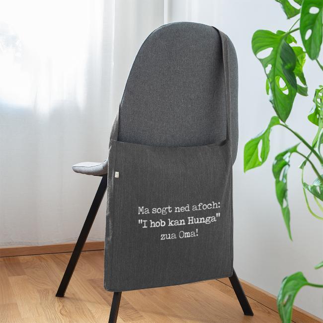 "Vorschau: Ma sogt ned afoch ""I hob kan Hunga"" zua Oma - Schultertasche aus Recycling-Material"