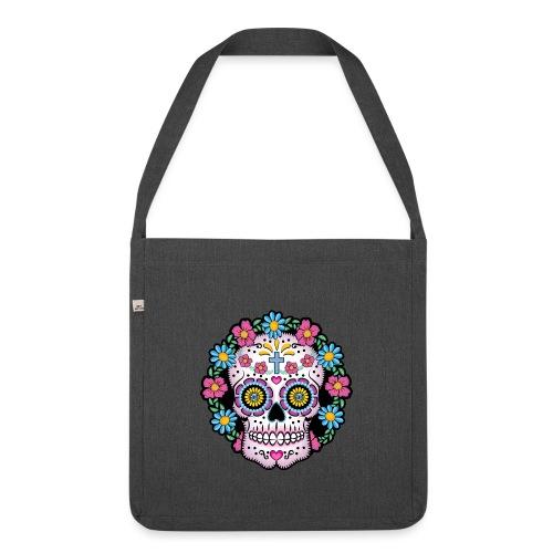 Dia de los Muertos Skull- - Shoulder Bag made from recycled material