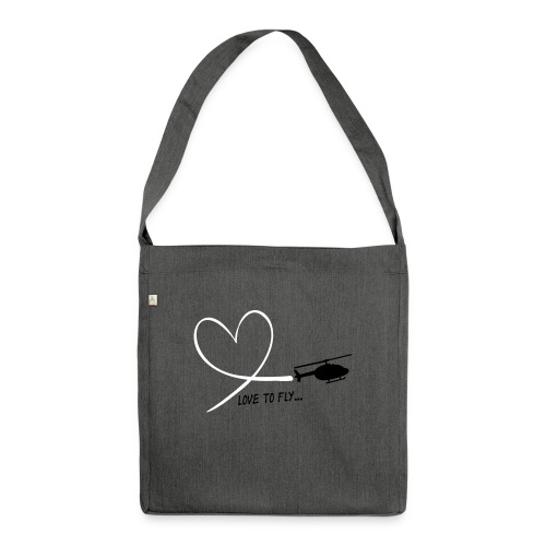 love_to_fly_jet_ranger - Schultertasche aus Recycling-Material