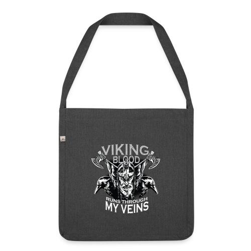 Vikinger Vikings Blut Rabe Krähe Axt - Schultertasche aus Recycling-Material