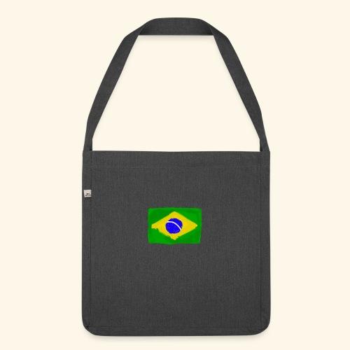 Brazilian flag InWatercolours - Axelväska av återvinningsmaterial