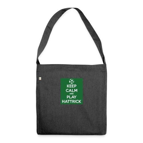 keep calm and play hattrick - Borsa in materiale riciclato