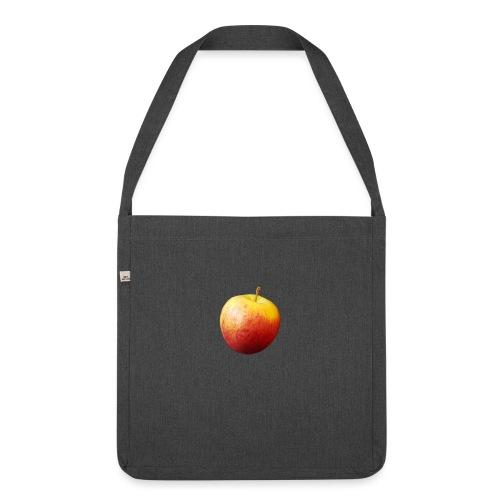 rood fruit met een naam - Schoudertas van gerecycled materiaal