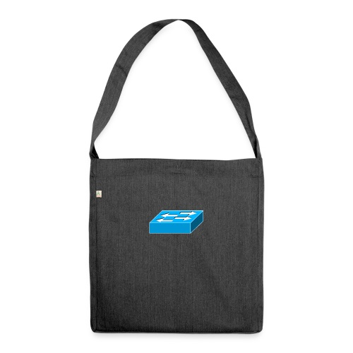 Switch Symbol - Schultertasche aus Recycling-Material