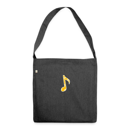 Basic logo - Shoulder Bag made from recycled material