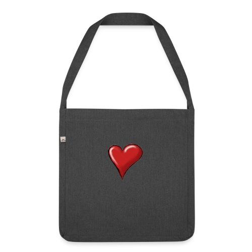Love (coeur) - Sac bandoulière 100 % recyclé