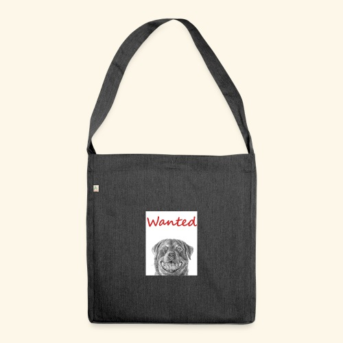 WANTED Rottweiler - Shoulder Bag made from recycled material