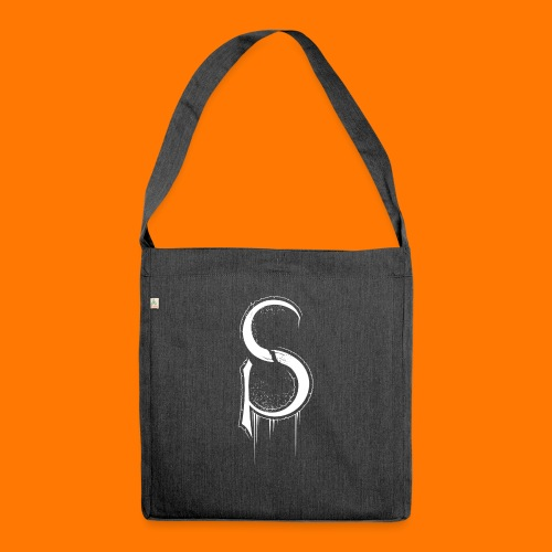 SCP-sign-WHITE transp - Shoulder Bag made from recycled material