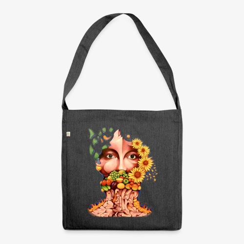 Fruit & Flowers - Shoulder Bag made from recycled material