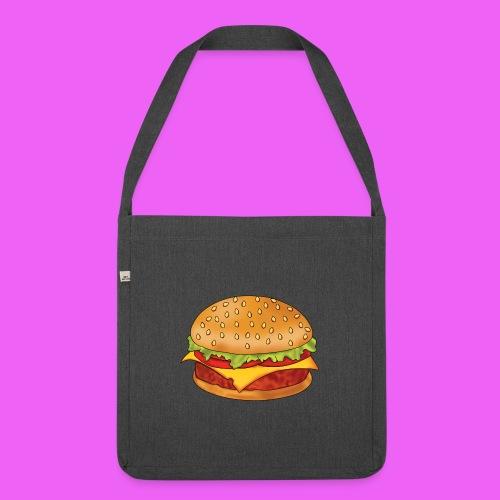 hamburguesa - Bandolera de material reciclado