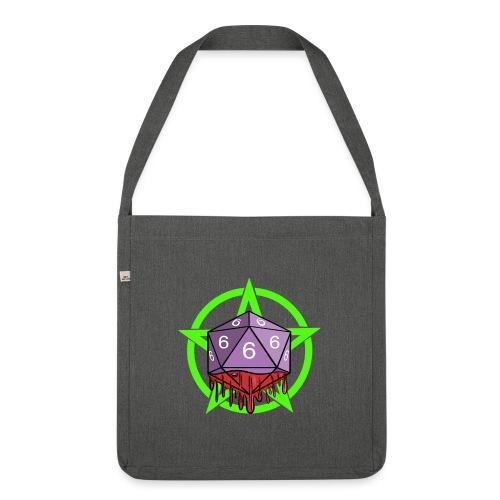 Würfel RPG Spiel Rollenspiele 666 mit Pentagramm - Schultertasche aus Recycling-Material