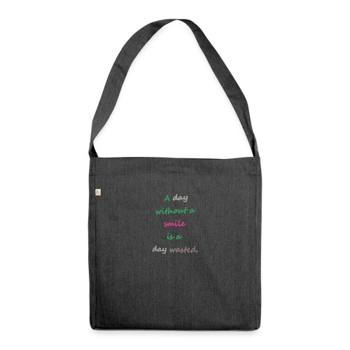 Say in English with effect - Shoulder Bag made from recycled material