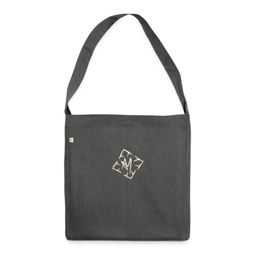 Across Yourself - Logo white transparent - Shoulder Bag made from recycled material