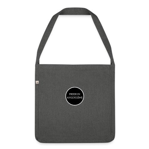 freerun noir logo - Sac bandoulière 100 % recyclé