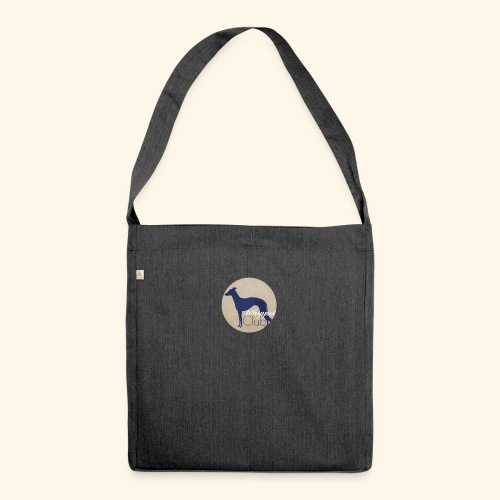 whippetclub - Schultertasche aus Recycling-Material