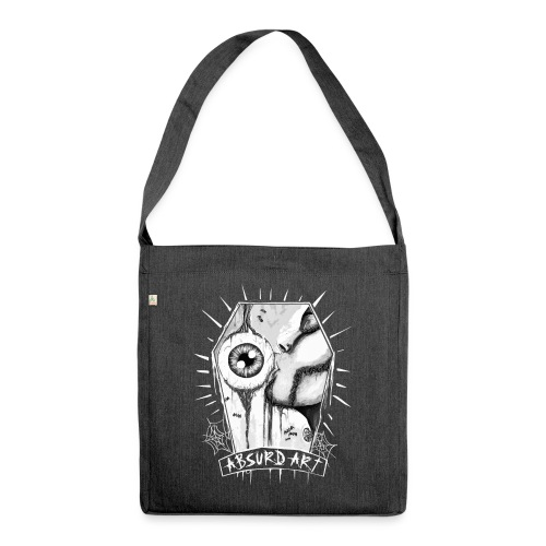 Eye Candy, Black´n White, by Absurd ART - Schultertasche aus Recycling-Material