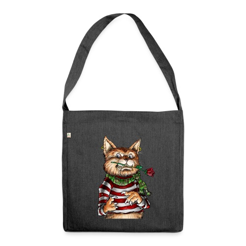 T-shirt - Crazy Cat - Sac bandoulière 100 % recyclé
