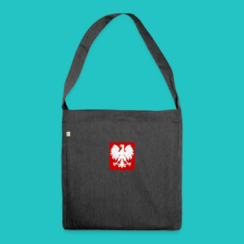 Koszulka z godłem Polski - Torba na ramię z materiału recyklingowego