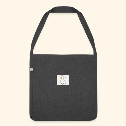 lama / alpaca - Schultertasche aus Recycling-Material