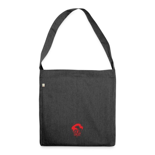 Sea of red logo - small red - Shoulder Bag made from recycled material