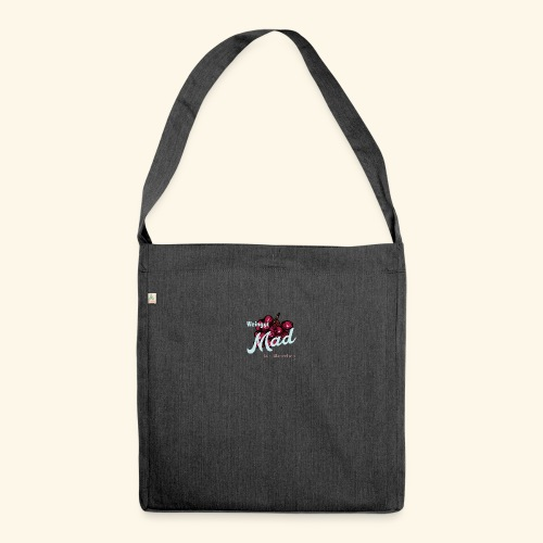 Rote Traube - Schultertasche aus Recycling-Material