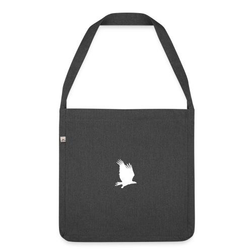 Tirolerbergluft pur (großer Adler) - Schultertasche aus Recycling-Material