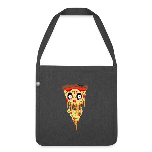 Schockierte Horror Pizza - Schultertasche aus Recycling-Material