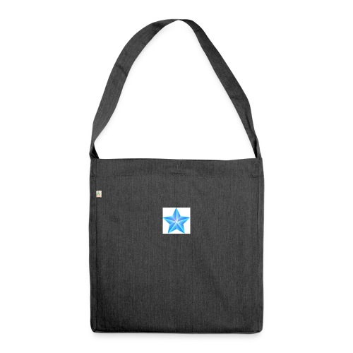 blue themed christmas star 0515 1012 0322 4634 SMU - Shoulder Bag made from recycled material