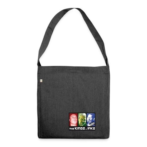 The Kings of Inks Explicit Music nur schwarz m jpg - Schultertasche aus Recycling-Material