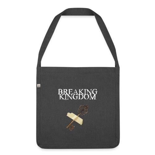Breaking Kingdom schwarzes Design - Schultertasche aus Recycling-Material