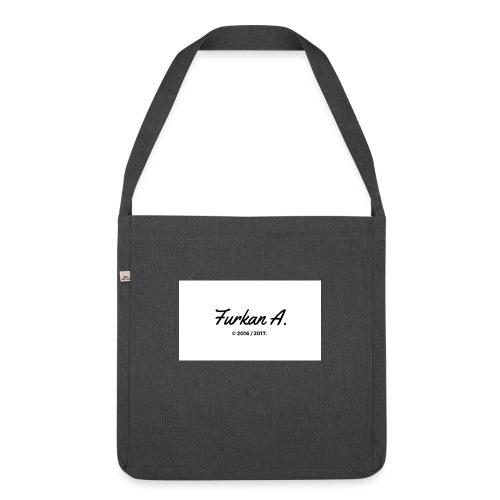 Furkan A - Zwarte sweater - Schoudertas van gerecycled materiaal